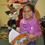 Santa at Unity Sunshine Program- everyone gets a book!