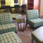 The lounge area in PROS at Unity House