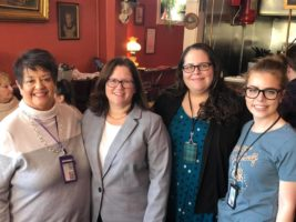 Martha Lasher-Warner, Rens. County District Attorney Mary Pat Donnelly, Tabitha Dunn, and Sarah McGaughnea